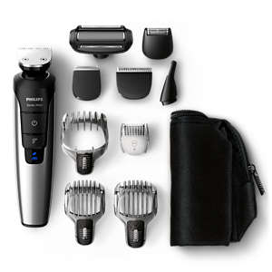 Multigroom series 7000 Rifinitore completo 10 in 1, ioni di litio