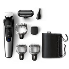 QG3398/39 Multigroom series 7000 7-in-1 Lithium-Ion Head to toe trimmer