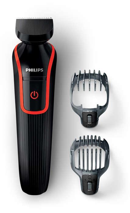 Styling preciso di barba e capelli