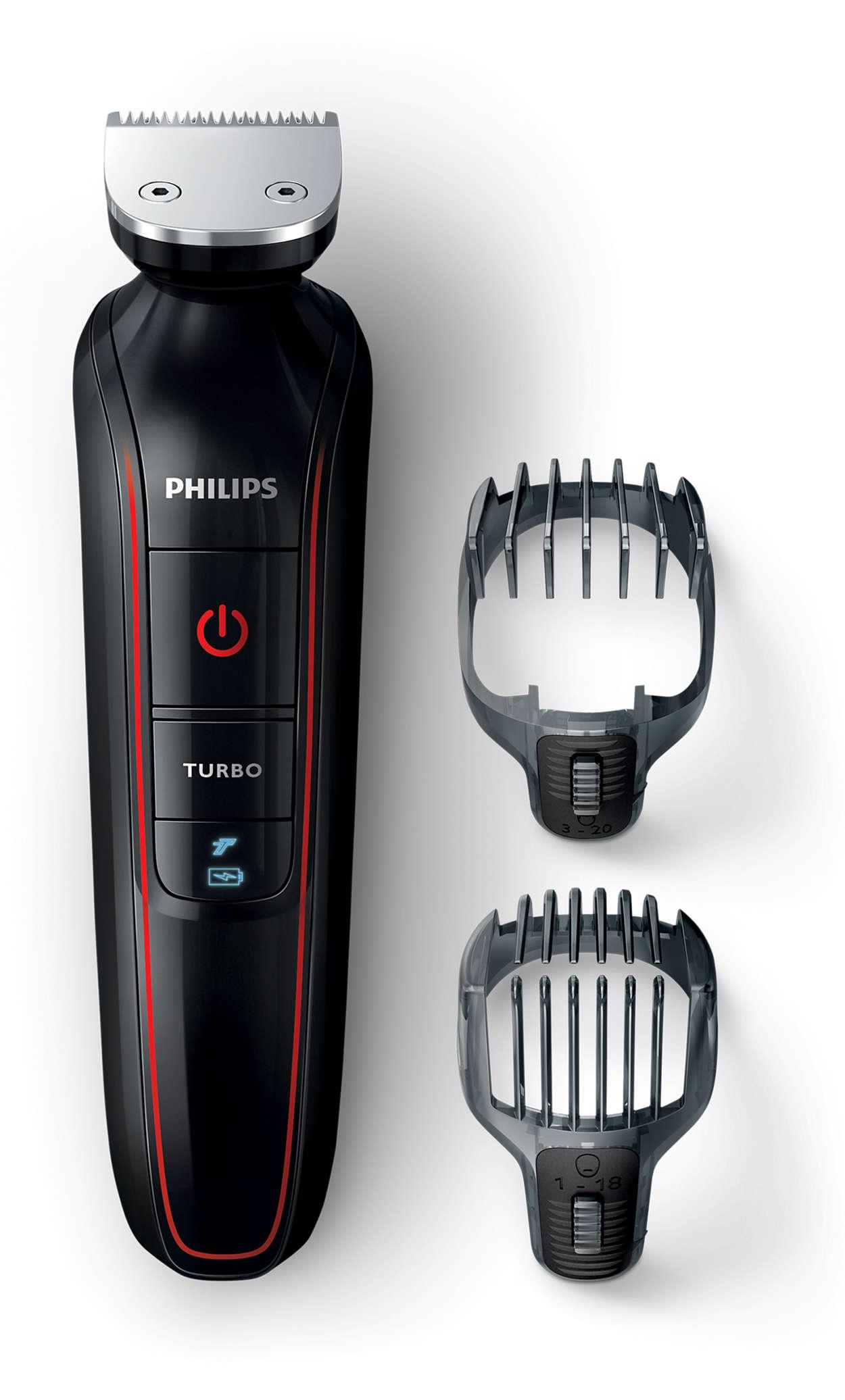 Präzises Stylen von Haaren und Bart