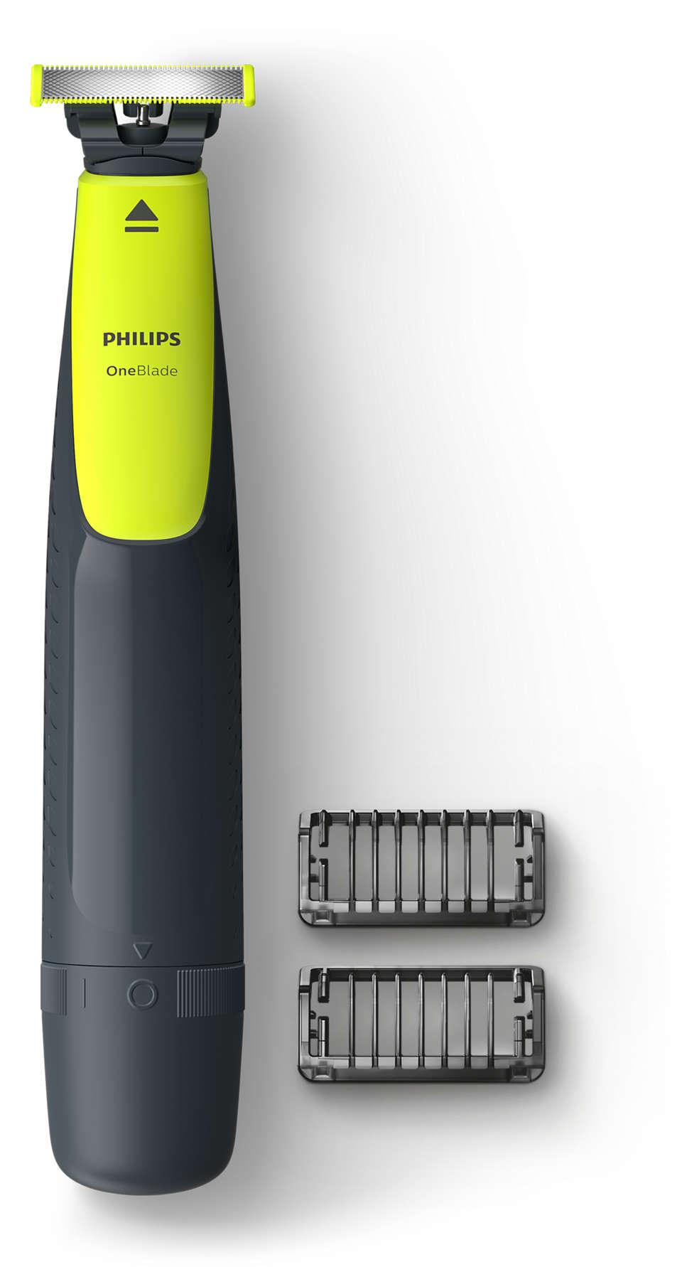 Подравнивает, делает контуры и бреет щетину любой длины