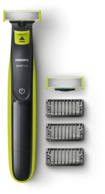 Philips OneBlade QP2520/30 Taillez, stylisez, rasez, quelle que soit la longueur des poils, 3sabots clipsables barbe de 3jours, rechargeable, 100% étanche