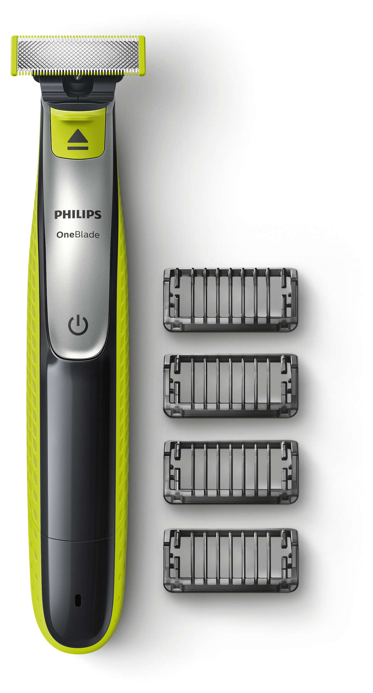 OneBlade подравнивает, делает контуры и бреет щетину любой длины