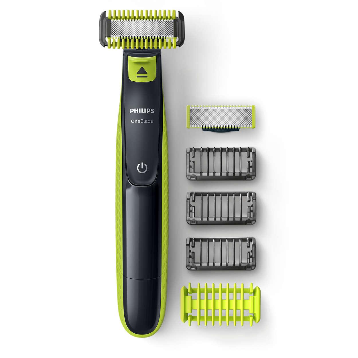 Zastřihuje, tvaruje a oholí jakkoliv dlouhé vousy
