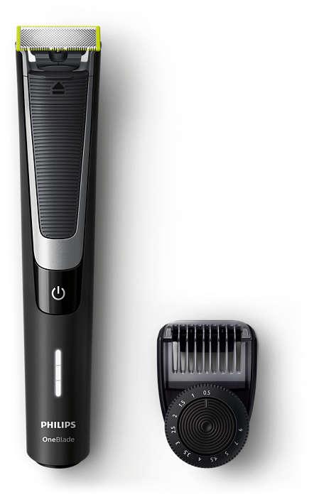 OneBlade taille, stylise et rase votre barbe, même longue