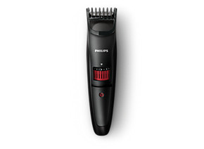 Philips BEARDTRIMMER Series 3000 beard and stubble trimmer QT4005 15 0.5mm precision settings Stainless steel blades 10h charge 45mins cordless use