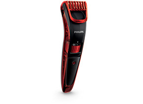Philips Beardtrimmer series 3000 beard and stubble trimmer QT4006 15 0.5mm precision settings Stainless steel blades 10h charge 45mins cordless use