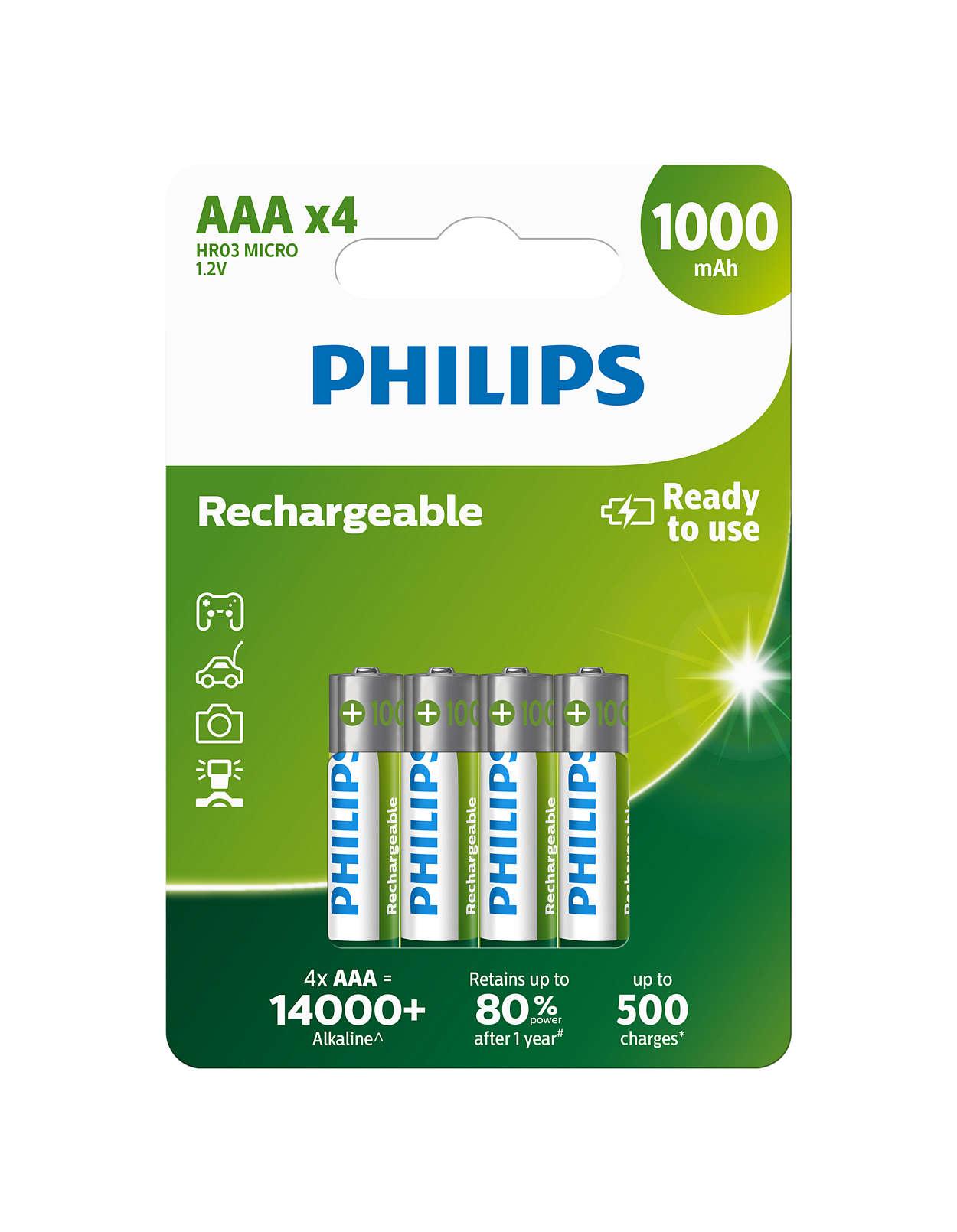 Επαναφορτιζόμενες μπαταρίες έτοιμες για χρήση