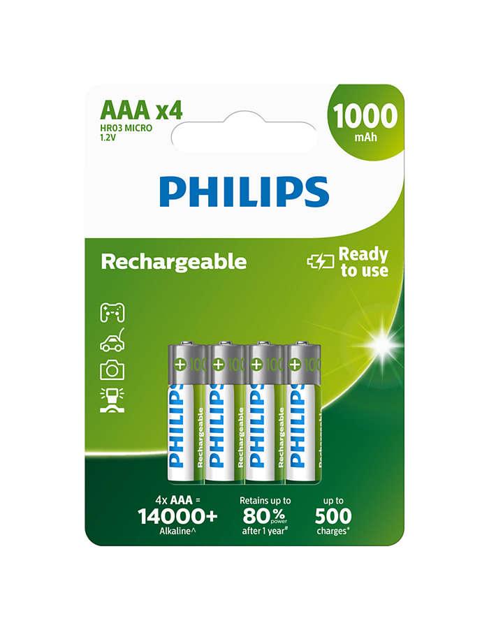 Gebruiksklare oplaadbare batterijen