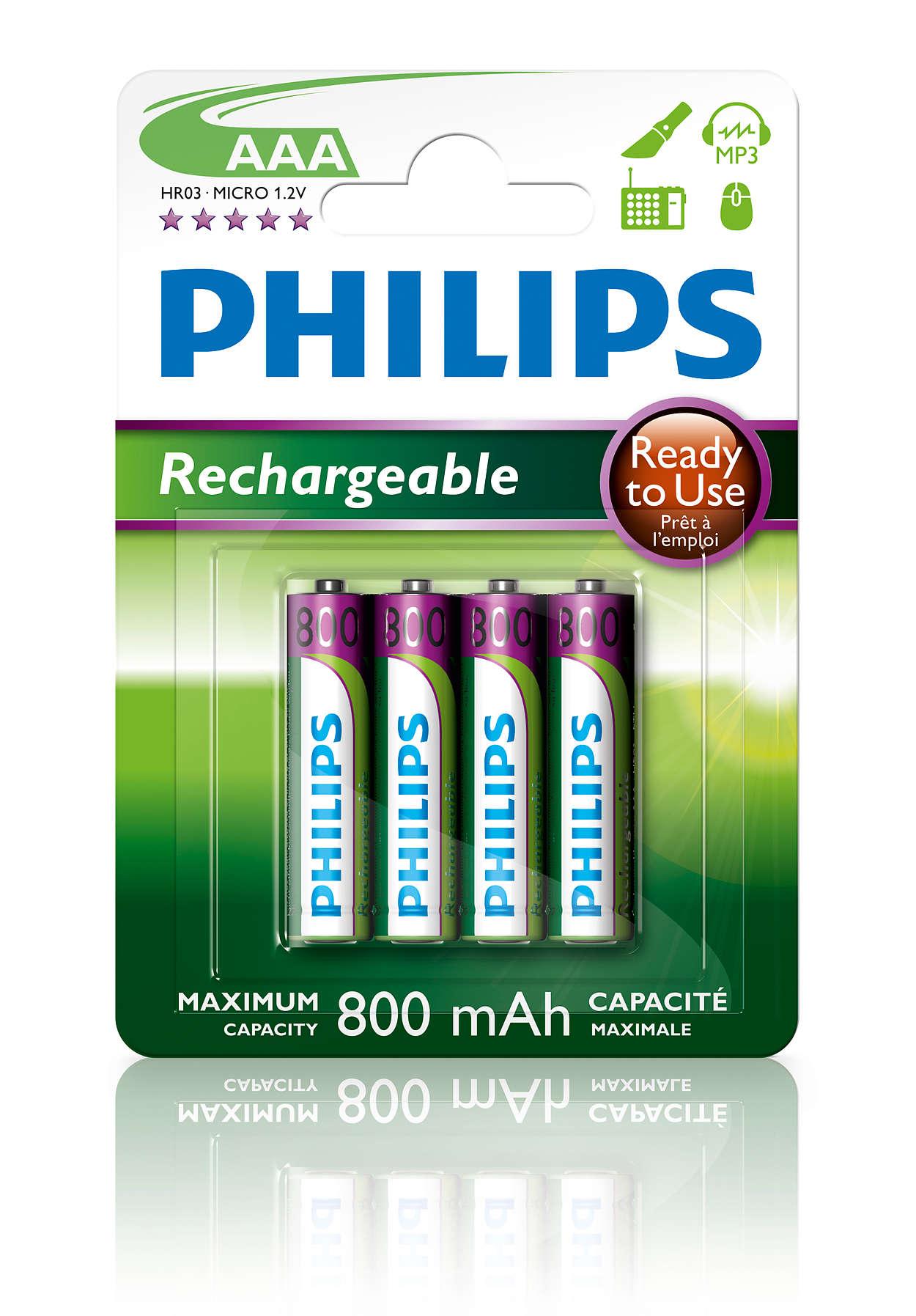 Dobíjecí baterie kokamžitému použití