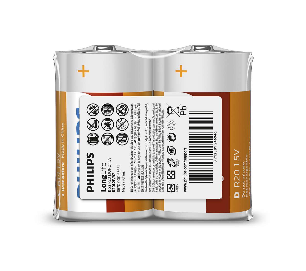 Excelentes baterías para dispositivos de bajo consumo