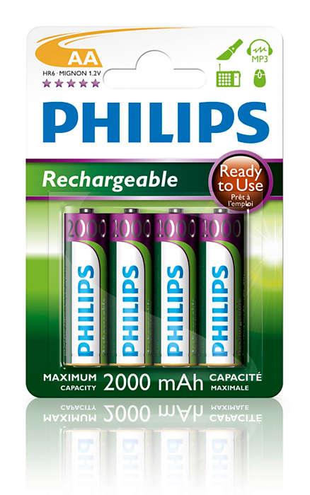 Var izmantot uzlādējamās baterijas
