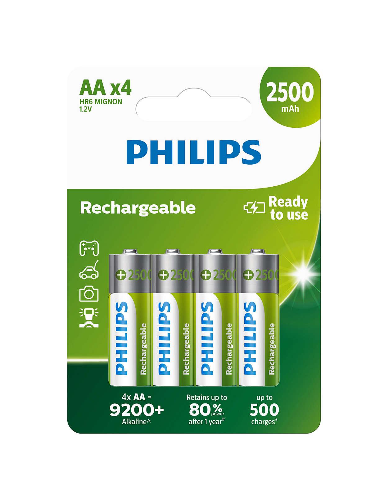 Nabíjateľné batérie pripravené na použitie