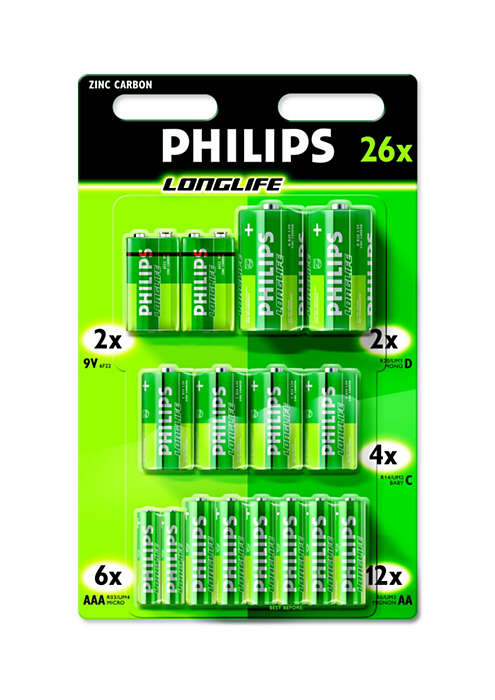 Topp batterier for enheter som krever lite strøm