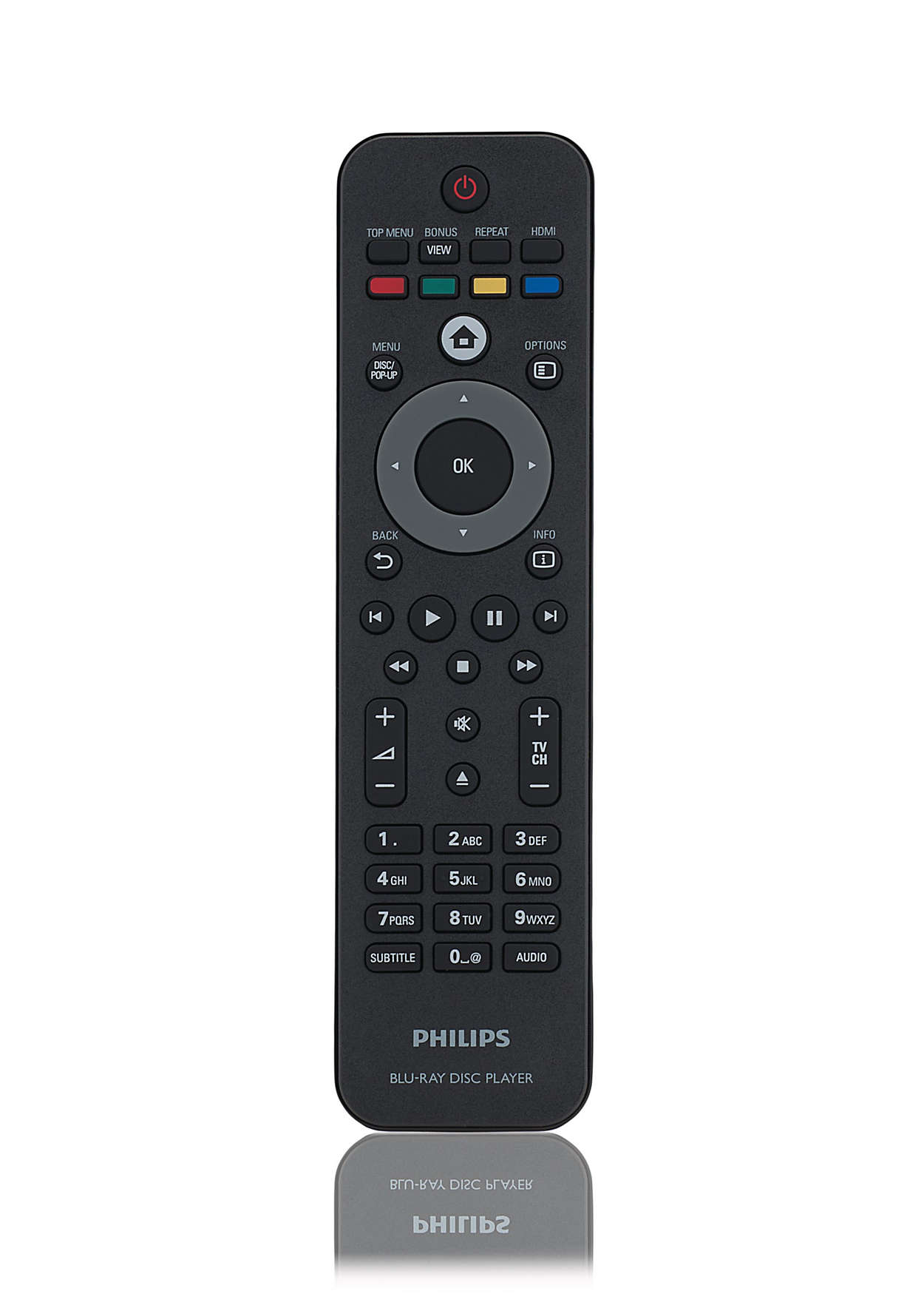 Remote control for blu-ray player