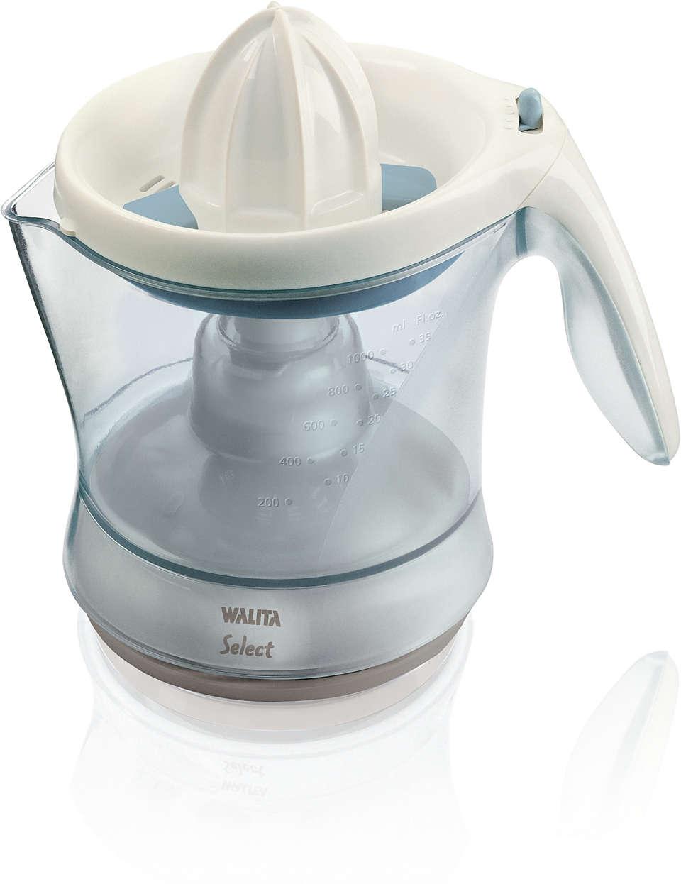 Desfrute de sucos frescos em segundos