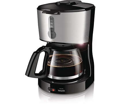 Café feito com filtro, preparado facilmente