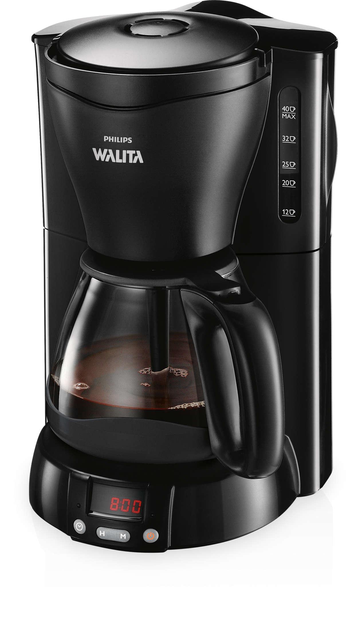 Café com mais aroma, na hora programada