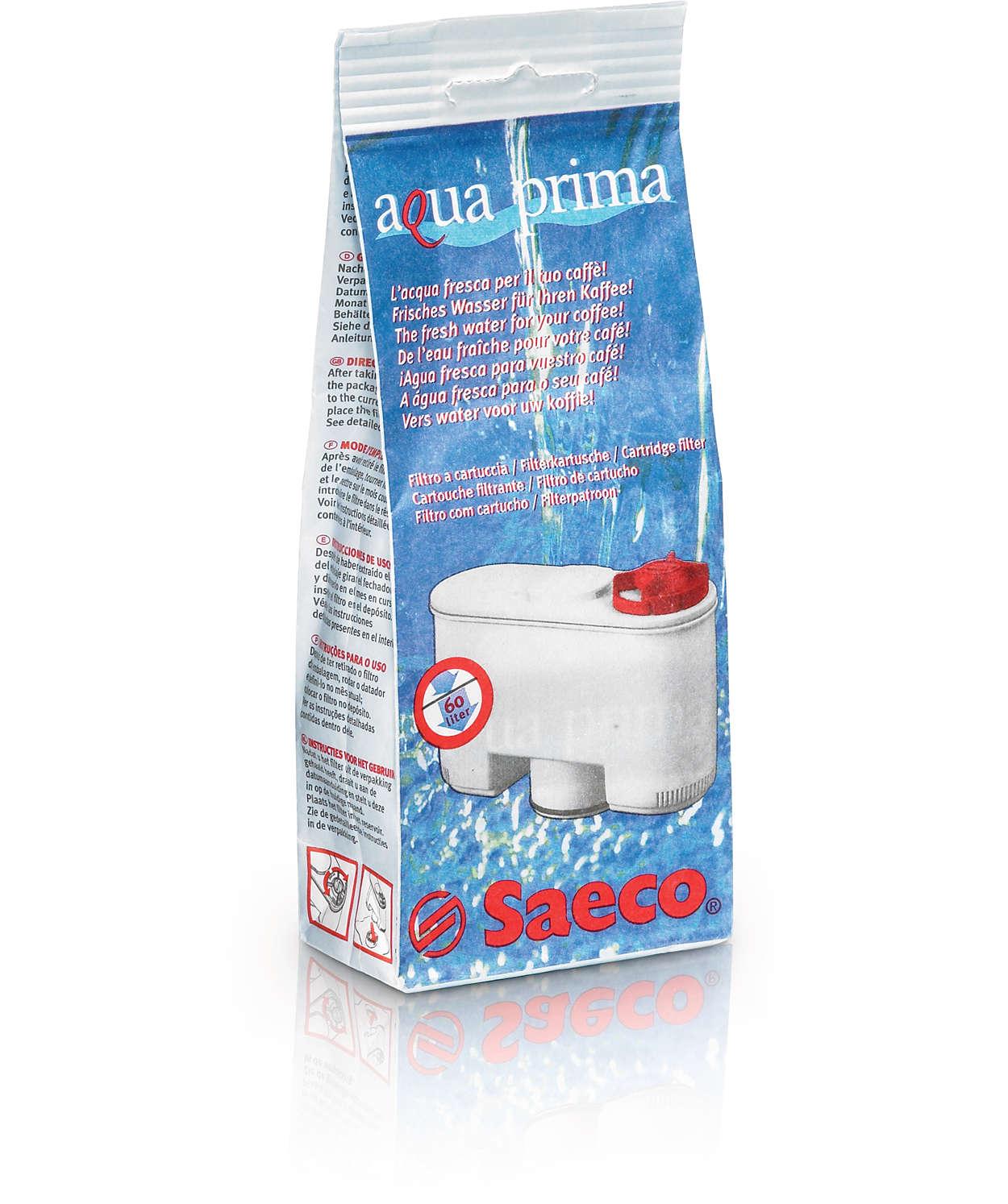 Per un espresso dal gusto impeccabile, filtra l'acqua del caffè