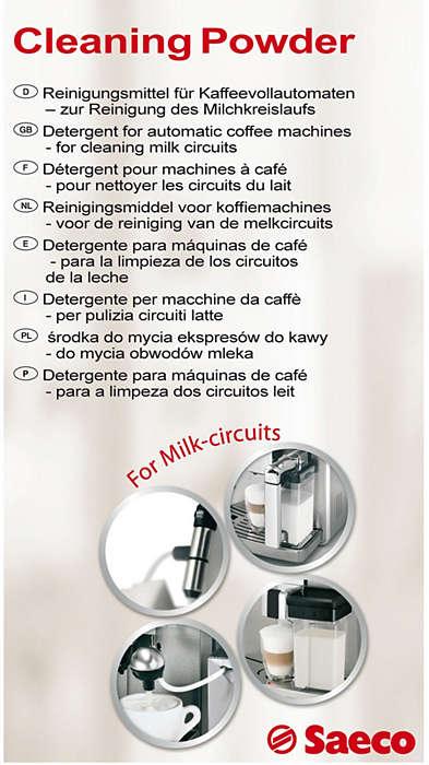 Nettoie parfaitement le circuit à lait