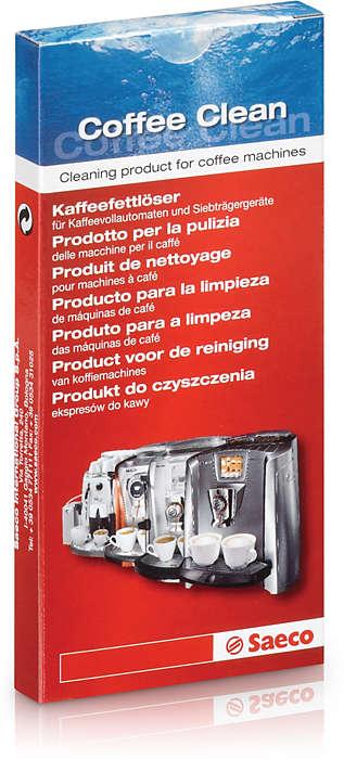 Výrobek na čištění přístrojů na přípravu espresa