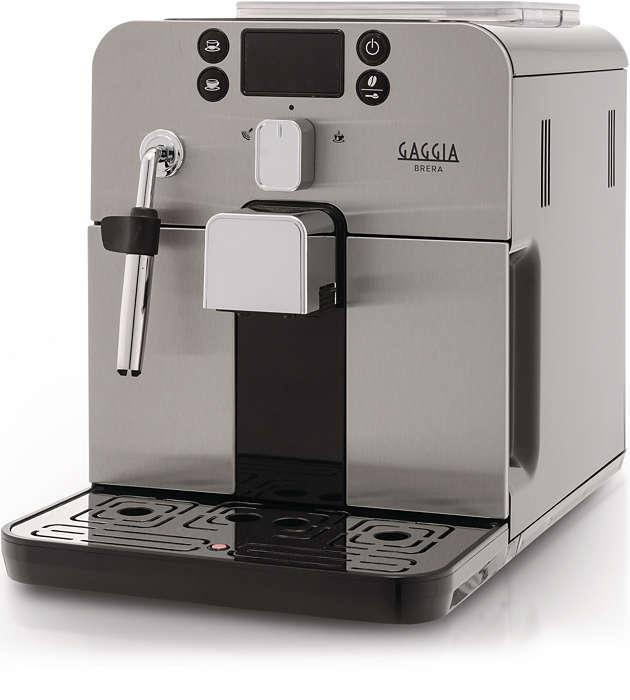 Press a button and enjoy your favorite Espresso