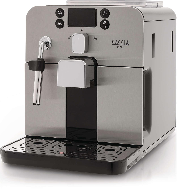 Met één druk op de knop geniet u van uw favoriete espresso