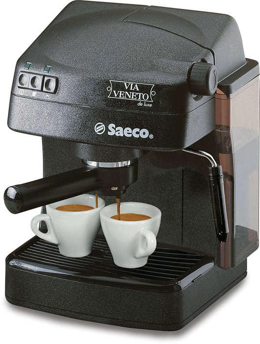 Disfrute del espresso italiano