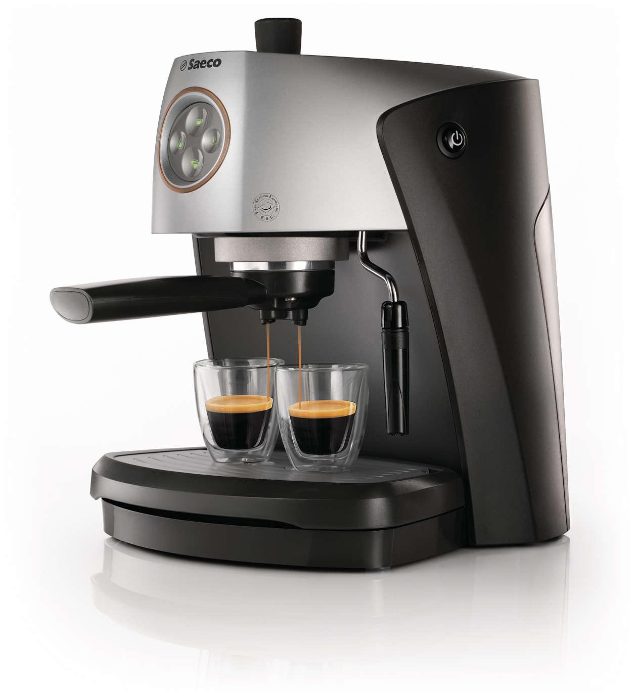 Geniet van echte Italiaanse espresso
