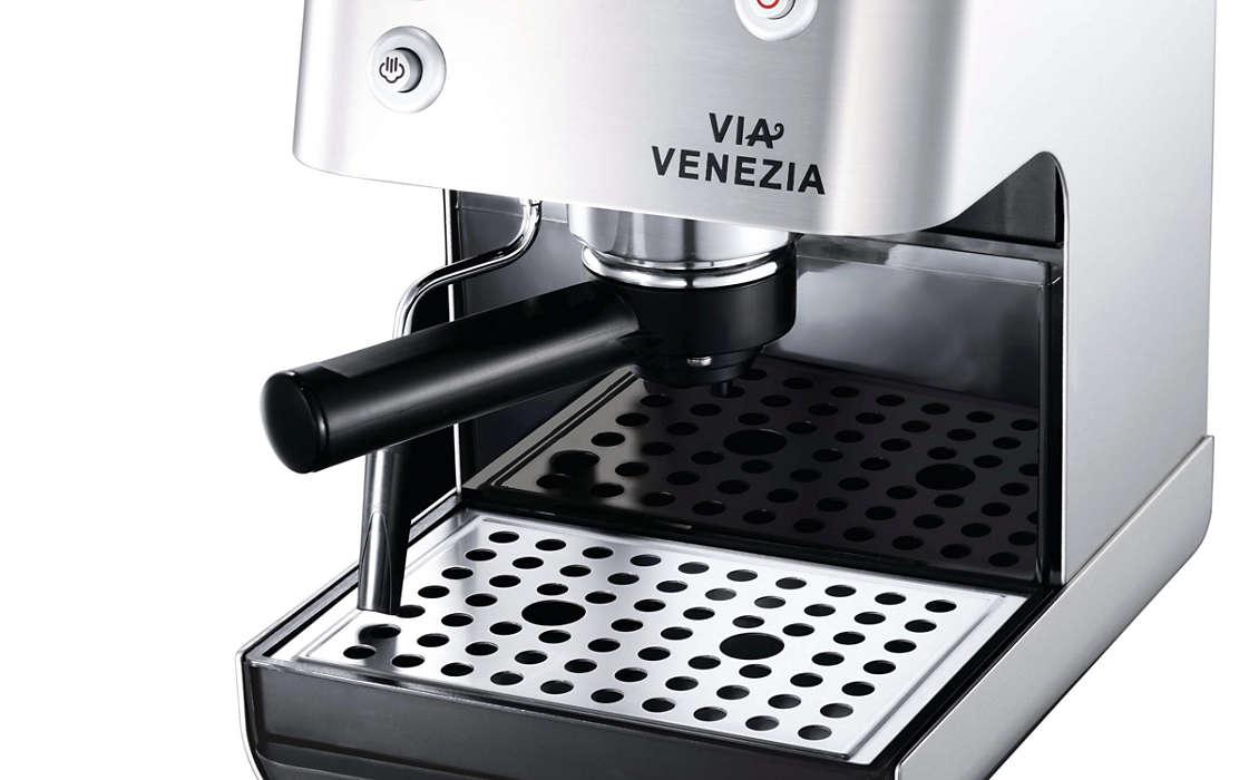Philips saeco ri9366/47 via venezia espresso machine, black.
