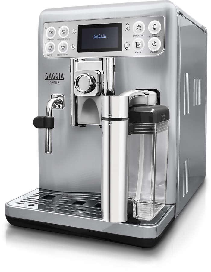 Just press a button to enjoy a creamy cappuccino