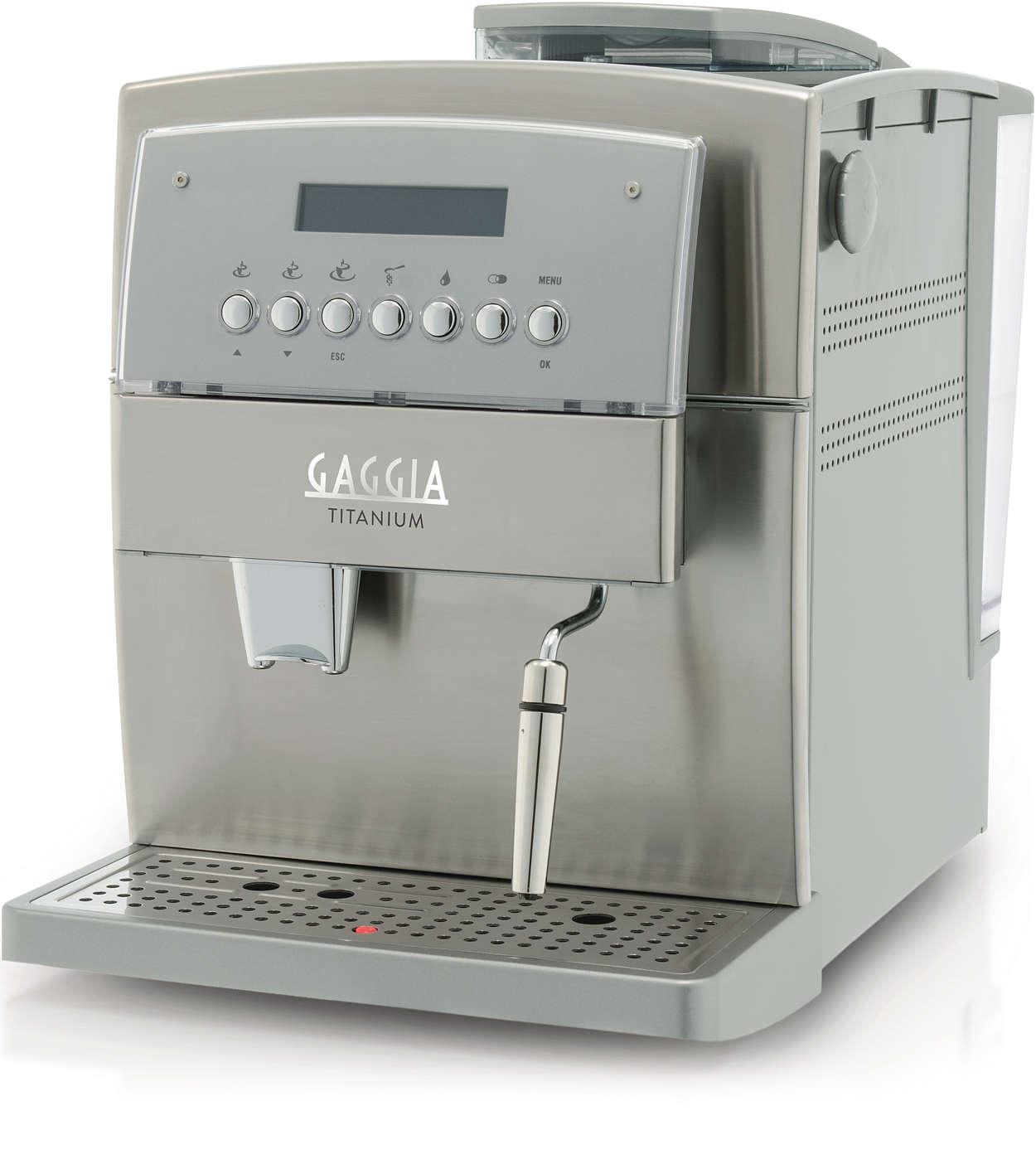 Découvrez la machine espresso Gaggia Titanium
