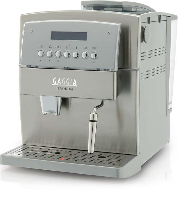 Ervaar de Gaggia Titanium-espressomachine