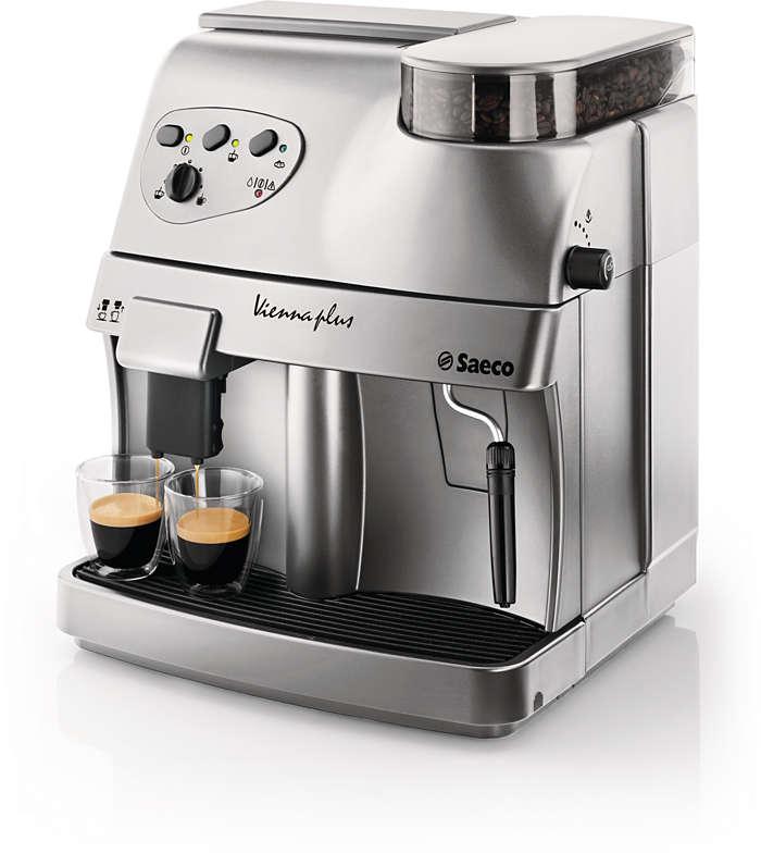 vienna super automatic espresso machine ri9737 20 saeco. Black Bedroom Furniture Sets. Home Design Ideas