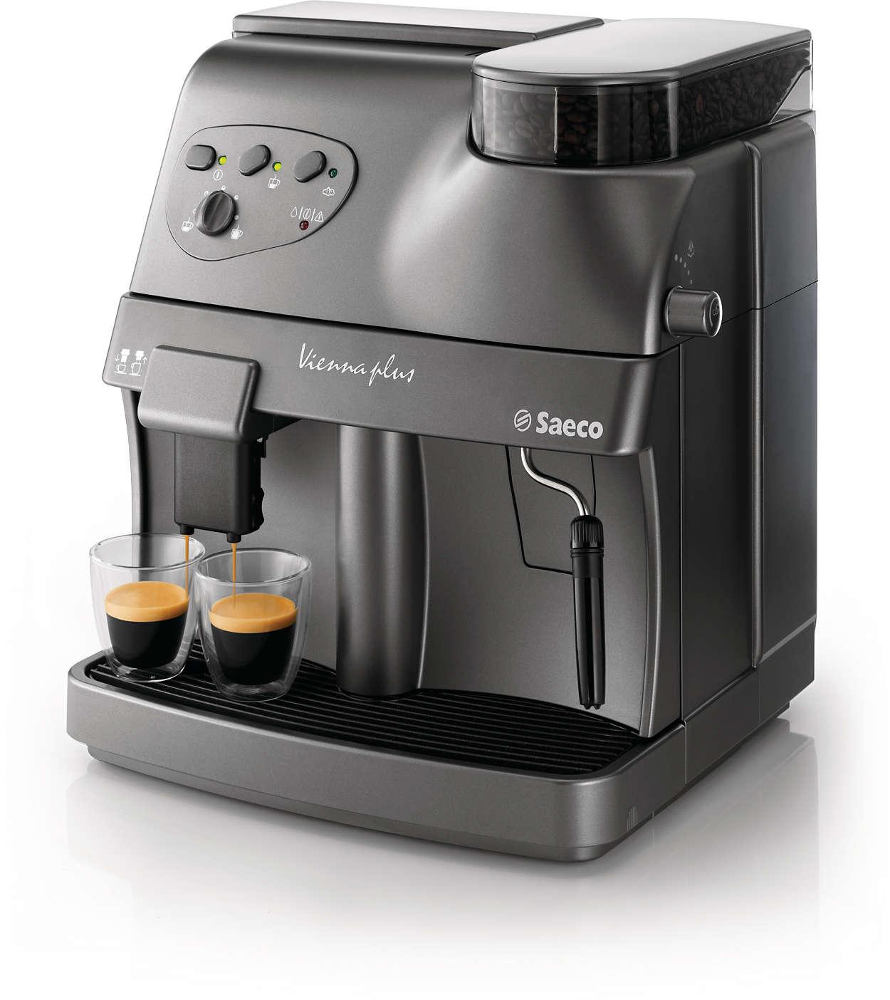 Vienna Super Automatic Espresso Machine Ri9737 21 Saeco