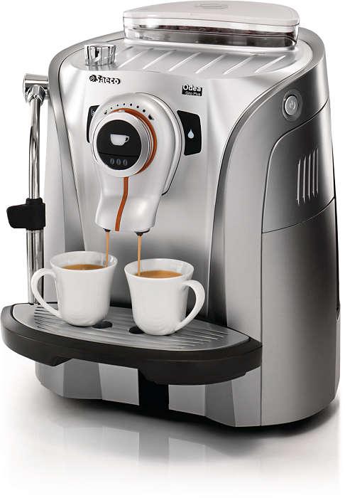 Espresso i et smart og funktionelt design