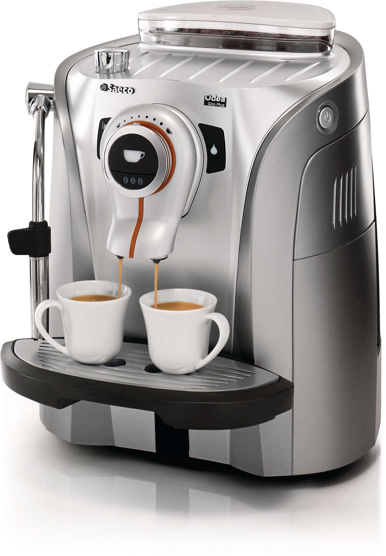 Espressomachine met een trendy en functioneel ontwerp
