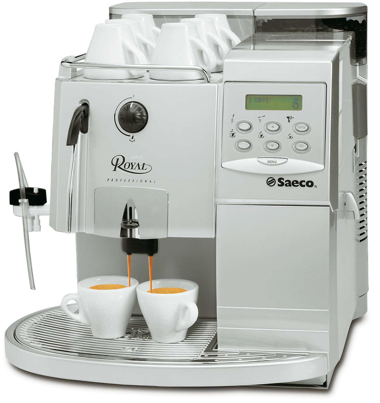 royal super automatic espresso machine ri9913 47 saeco. Black Bedroom Furniture Sets. Home Design Ideas