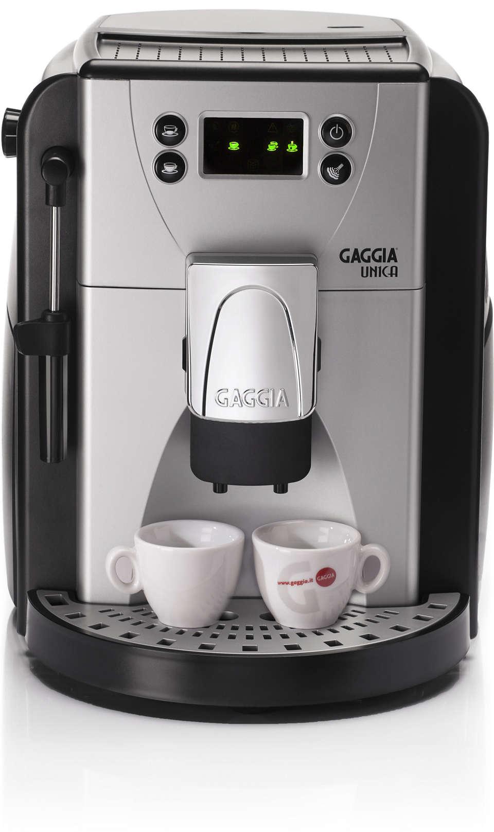 Gaggia UNICA will surprise you!