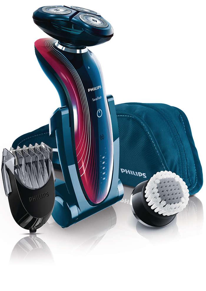 Afeitada suave y delicada al tacto y control de lubricación