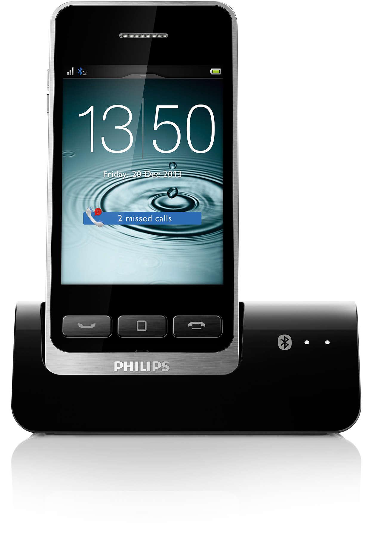 Telefono cordless digitale con mobilelink s10a 34 philips - Cordless di design ...