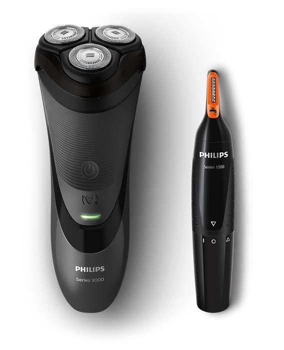 Einfache und gründliche Rasur