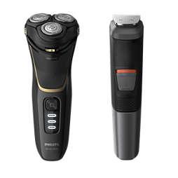 Shaver series 3000 Wet & Dry elektrisch scheerapparaat, Series 3000