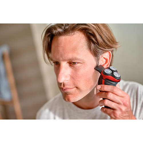 Shaver series 3000 wet & dry electric shaver with pop-up trimmer