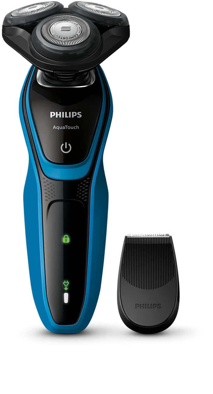 Pele molhada ou seca, barbear com proteção