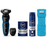 Afeitadora eléctrica en seco y húmedo