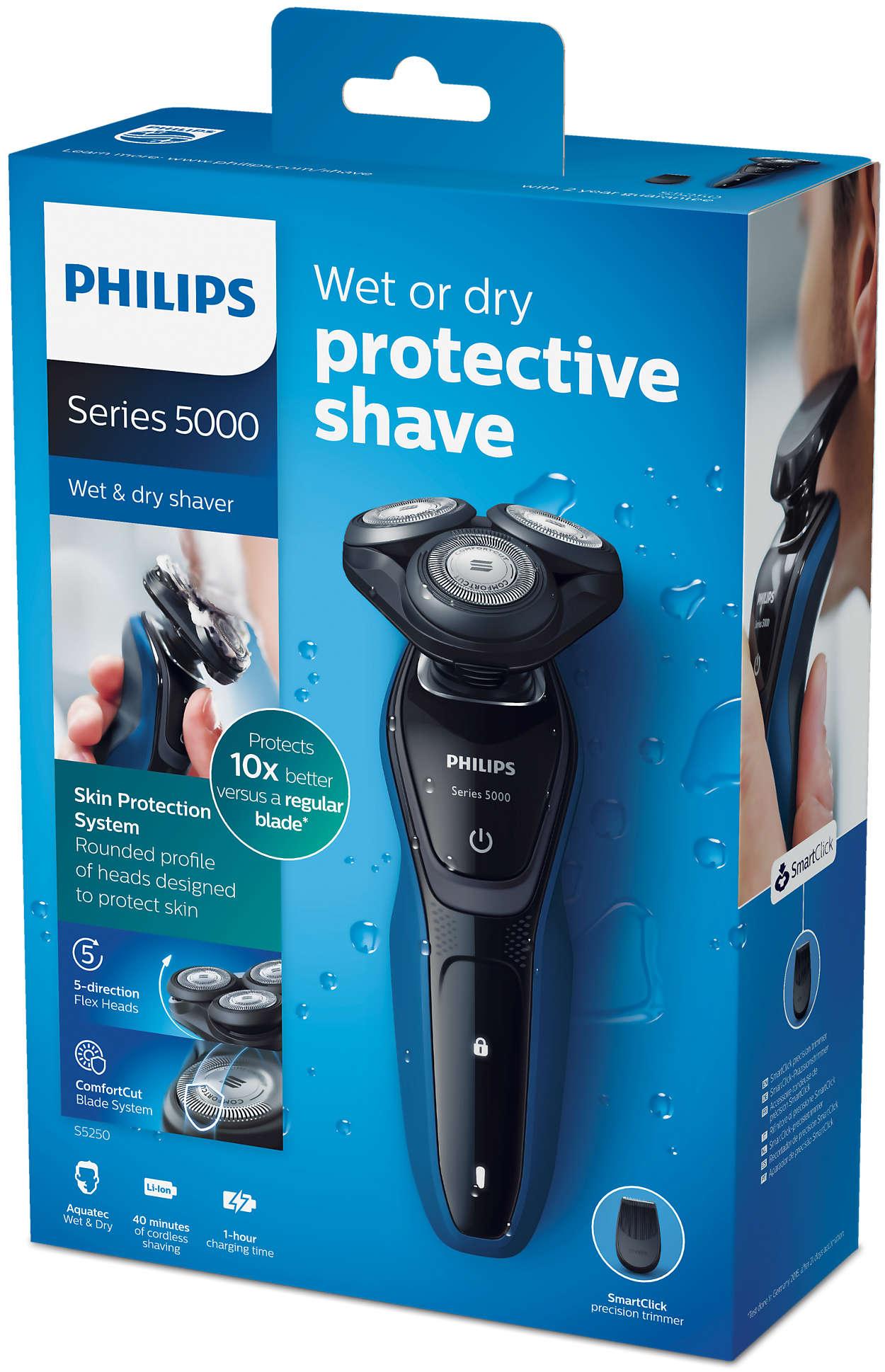 Shaver series 5000 Nedves és száraz elektromos borotva S5250 06 ... 20f115a055