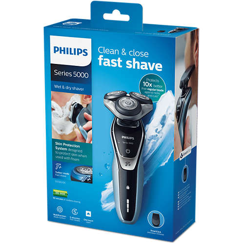 Shaver series 5000 Wet & dry electric shaver with Turbo+ mode