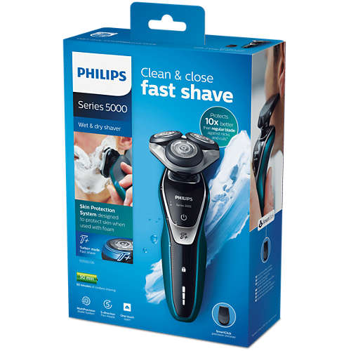 Shaver series 5000 Afeitadora eléctrica en seco y húmedo