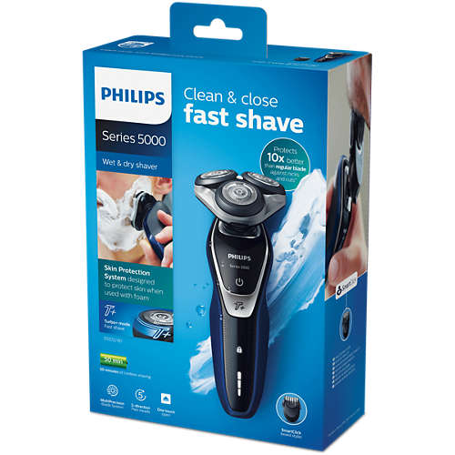 Shaver series 5000 wet & dry electric shaver with beard trimmer